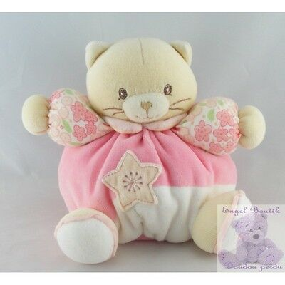 8620 - Doudou chat patapouf rose fleurs Lilirose KALOO - Security blanket
