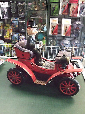 Tin Toy Lithographed Battery Operated Bump N Go Jalopy Car 1901 by Nomura Japan
