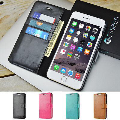 For Apple iPhone 5 / SE / 6 / 7 Plus Leather Wallet Case Card Holder Stand Cover