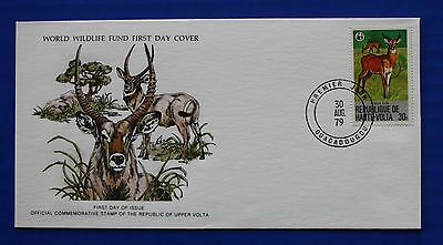 Burkina Faso / Upper Volta (506) 1979 Protected Animals - Waterbuck WWF FDC