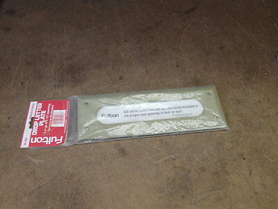 """FULTON Drop letter plate Mail slot NIB large 8"""" by 1 1/2"""" opening Brass B-166"""