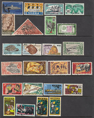 Nigeria modern hi val selection 24 diff used stamps cv $57.40