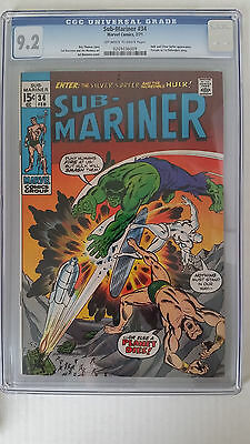 Sub-Mariner #34 CGC 9.2 NM- Prelude to 1st Defenders Story
