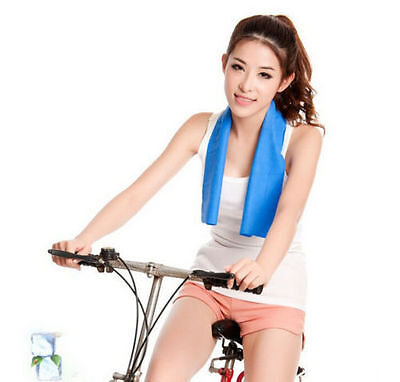 Instant Cooling Towel Sports Gym Towel Drying Sweat Pets Absorb Dry UK-TY