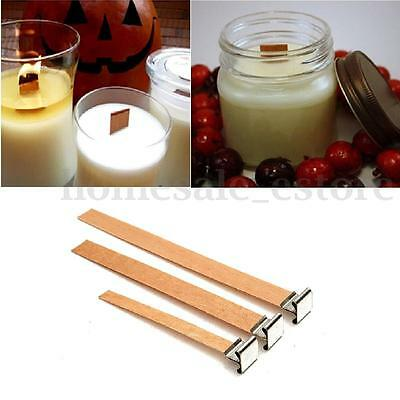 DIY Wooden Wick Candle Core Perfect Sustainers In Soy Paraffin Making Pick Size