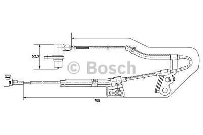 To Clear New Genuine Bosch Front Right Wheel Speed / Abs Sensor 0265006677