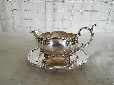 Reed & Barton silver gravy boat w/tray 1759a Lovely vintage piece