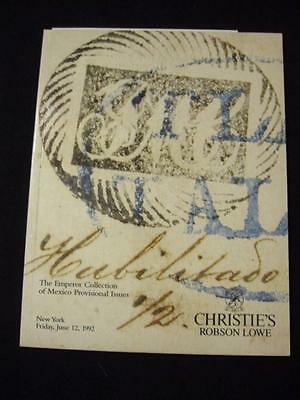 Christie's Lowe Auction Catalogue 1992 Mexico Provisional 'emperor' Collection
