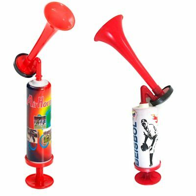 Manual Pump Air Horn Hand Held Loud Noise Maker Party Sports Safety Halloween !