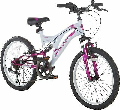 Muddyfox Radar 20 Inch Wheels 6 Gears Full Suspension Mountain Bike - Girls