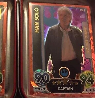 Star Wars Force Attax Extra -Limited Edition Card Han Solo