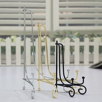 """6""""-12"""" Iron Easel Classic Display Stand Bowl Picture Plate Frame Book Artwork"""