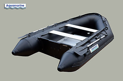 10 ft INFLATABLE BOAT RAFT PRO MILLITARY BLACK 1.2 mm PVC