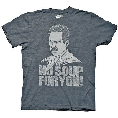 Seinfeld Soup Nazi No Soup For You Graphic TShirt Blue