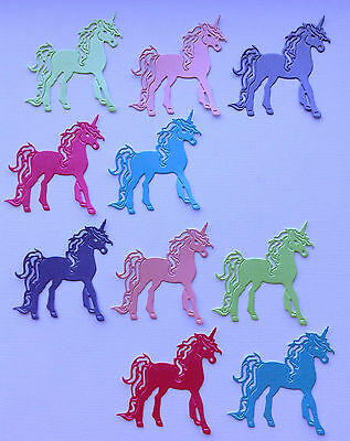 Unicorn Die Cuts - Sets of 10 in Assorted Colours