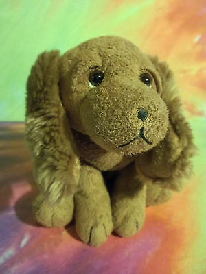 RUSS Tan Suede like LUV PETS Scooter Furry Ear Puppy Dog Plush Lovey GUC