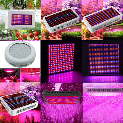 3W-1200W LED Grow Light Blue/Red/Full Spectrum Lamp Bulb for Indoor Plant Growth