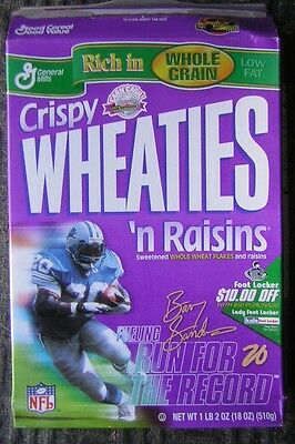 "General Mills ""Crispy Wheaties 'n Raisins"" Cereal Box Featuring Barry Sanders"