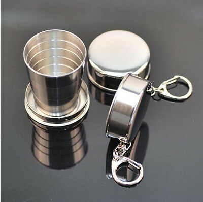 Steel Travel Telescopic Collapsible Shot Glass Emergency Portable Pocket Cup