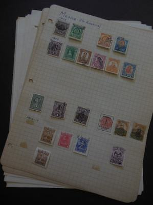MEXICO : Old Time Mint & Used collection on pages.