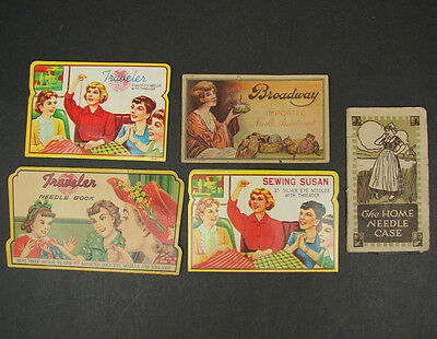 Vtg Sewing Needle Books Lot Broadway Sewing Susan Traveler Home Needle