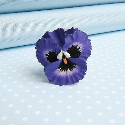 PANSY BROOCH  3 beautiful colours hand painted flower jewellery from Wales,UK