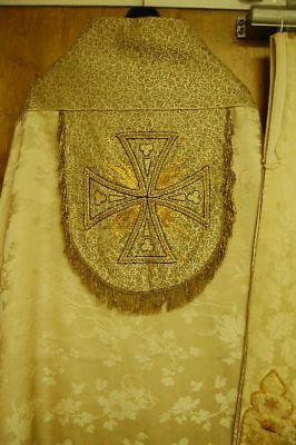 +Classic older White Cope & Hand crafted Stole +chalice