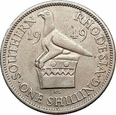 1949 Southern Rhodesia as UK Colony GEORGE VI now Zimbabwe Shilling Coin i55263