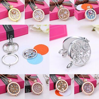 Newest Oil Diffuser Necklace Perfume Fragrance Aromatherapy Locket Pendant Set