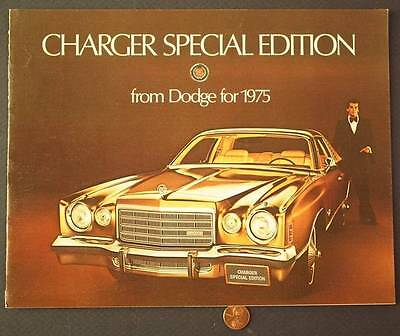 1975 Dodge Motor Car company Charger Special Edition series brochure-VINTAGE!