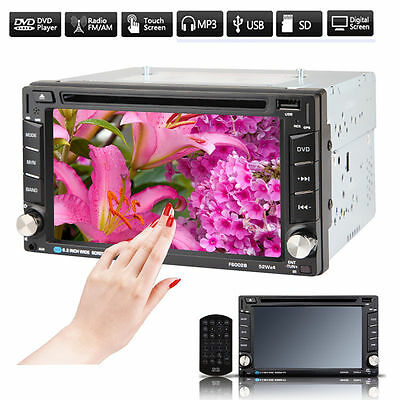 """6.2"""" Double DIN Car CD DVD Player Stereo FM/AM Radio Bluetooth TV USB SD In Dash"""