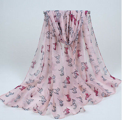 Horse & Western Fashion Ladies Horse Print Scarf Pink / White Horses