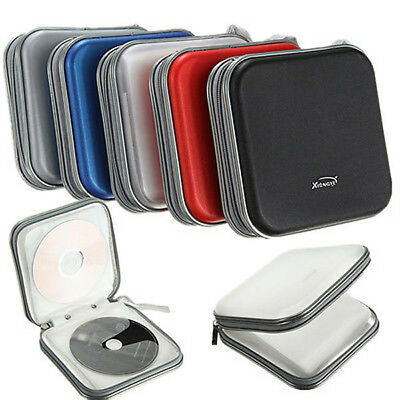 Double-side CD DVD Storage Organizer Holder Case Sleeve Bag 40 Disc Wallet Cover