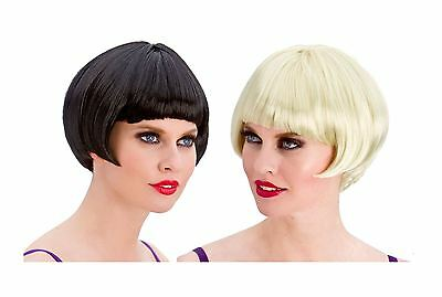 Ladies Women 20s Flapper Charleston Short Bob Wig Gangster Fancy Dress Accessory