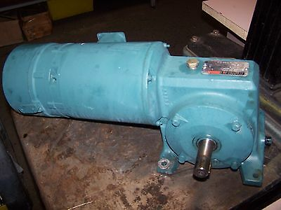 Reliance 1/2 Hp Ac Electric Brake Gearmotor 44 Rpm Out 230/460 Vac F51A0303M-Yg