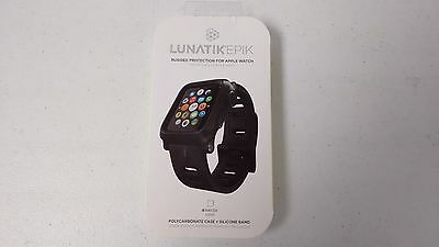 Lunatik Epik EPIK-001 Rugged Case + Silicone Band Apple Watch 42mm - Black NEW