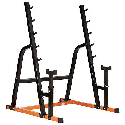 Mirafit Weight Lifting Power Rack Gym Bar Stand With Bench Press Spotter Squat