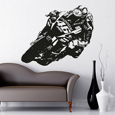 Valentino Rossi Moto GP vinyl wall art sticker decal motorbike mb1