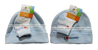 GOLDBUG 2PC SET HAT   SOCKS Toddler Infant 0-6 MONTHS Baby Boy  YOU ... a96fc254027a