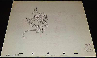 Walt Disney Dumbo Timothy Mouse Original 1941 Production Drawing