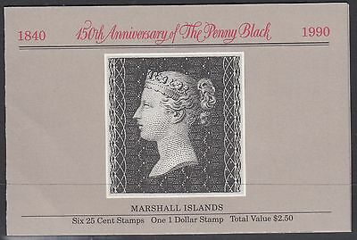 MARSHALL ISLANDS BOOKLET : 1990 Penny Black  SG SB19 MNH