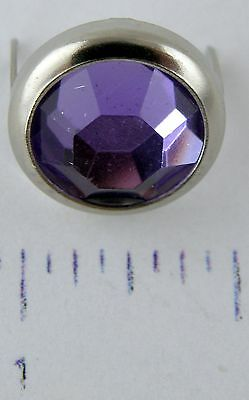 "Jewel Spots 1/2"" - Lilac Rhinestone - Pkg/10 - Hide Crafter Leather #8845-09"