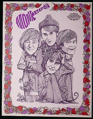 The Monkees Original 1967 Lithograph Poster Print Micky Dolenz Sparta Graphics
