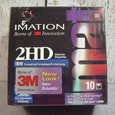 Imation 3M 10 Pack  diskettes IBM formatted Double Sided 3.5  New Sealed package