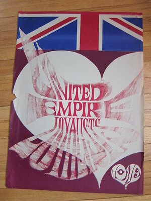 United Empire Loyalists Love vintage poster Vancouver band