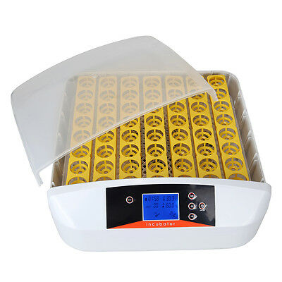 2 Style 56 Eggs Digital Fully Automatic Incubator Turner Poultry Chicken Duck