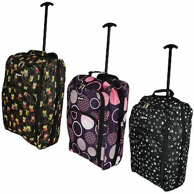 Cabin Hand Luggage Trolley Bag Small Suitcase Holdall Wheeled Travel Flight