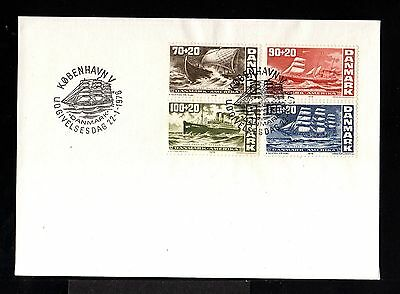 10004-DENMARK-FIRST DAY COVER COPENHAGEN.1976.SET Bicent.united states.SHIPS.