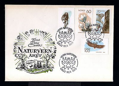 10014-NORWAY-FIRST DAY COVER OSLO.1970.SET natura conservation.NORGE.Norvege.FDC