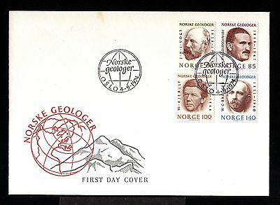 10013-NORWAY-FIRST DAY COVER  OSLO.1974.SET Geologes.NORGE.Norvege.FDC
